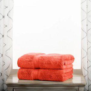 2 Ralph Lauren Home Coral Bath Towels
